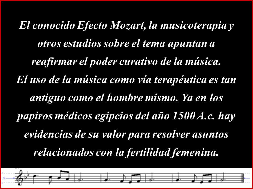 La música es el corazón de la vida.