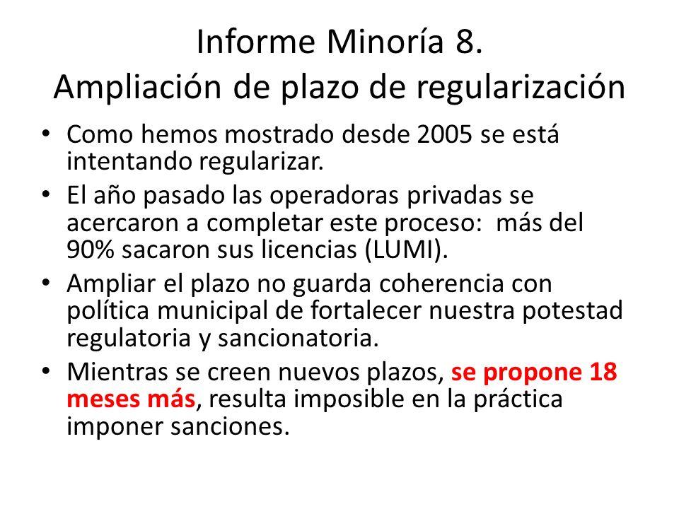 Informe Minoría 8.