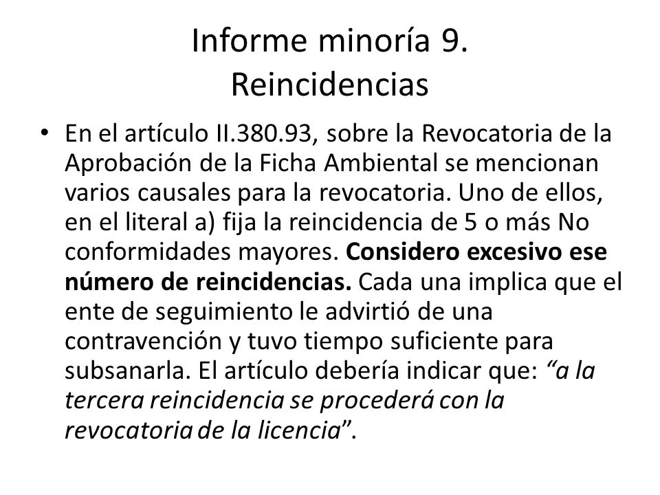 Informe minoría 9.