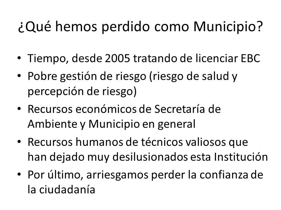 ¿Qué hemos perdido como Municipio.
