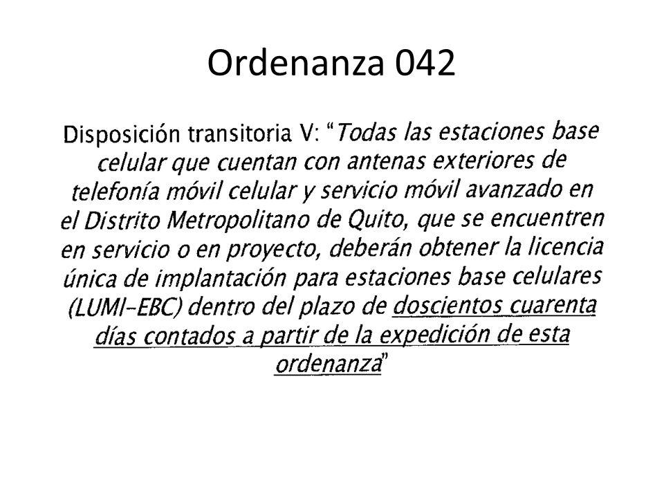 Ordenanza 042
