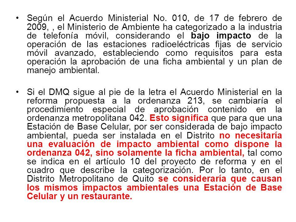 Según el Acuerdo Ministerial No.