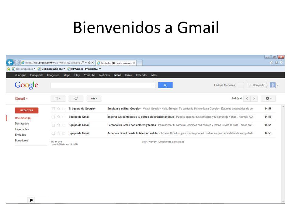 Bienvenidos a Gmail