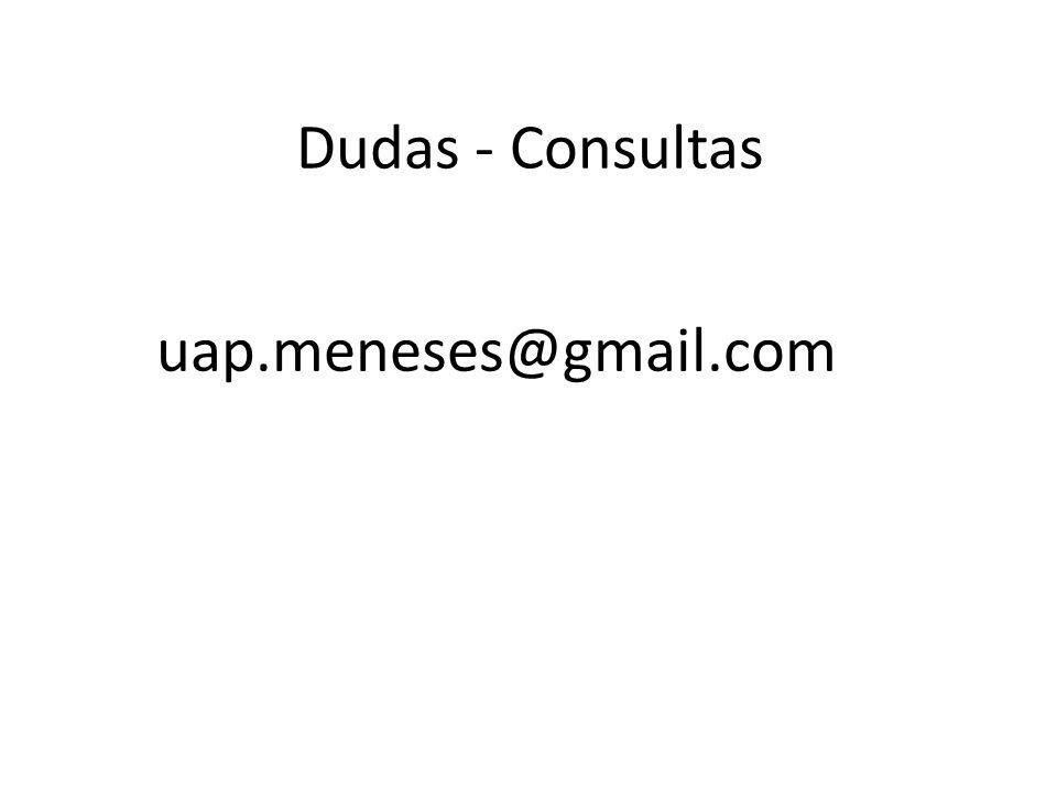 Dudas - Consultas uap.meneses@gmail.com
