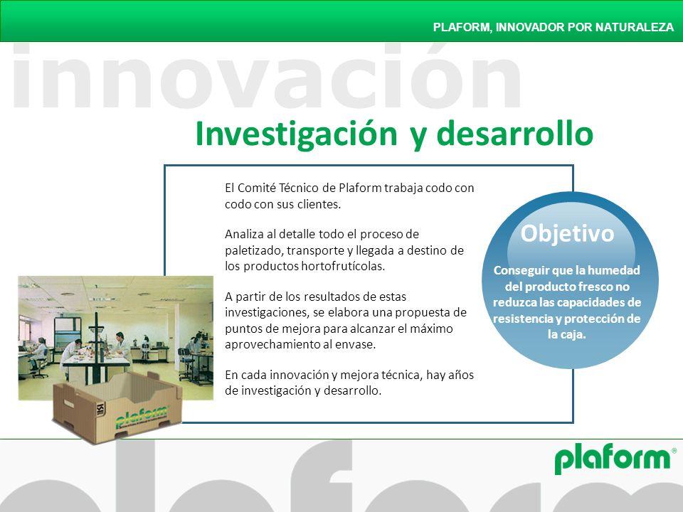 innovación PLAFORM, INNOVADOR POR NATURALEZA El Comité Técnico de Plaform trabaja codo con codo con sus clientes. Analiza al detalle todo el proceso d