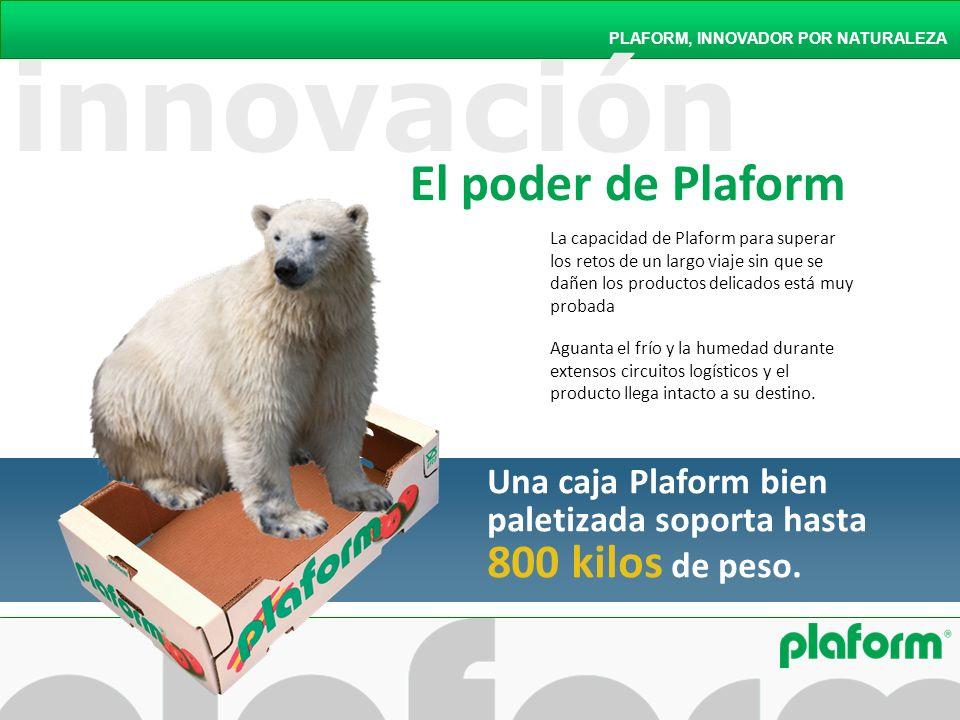 PLAFORM, INNOVADOR POR NATURALEZA La capacidad de Plaform para superar los retos de un largo viaje sin que se dañen los productos delicados está muy p