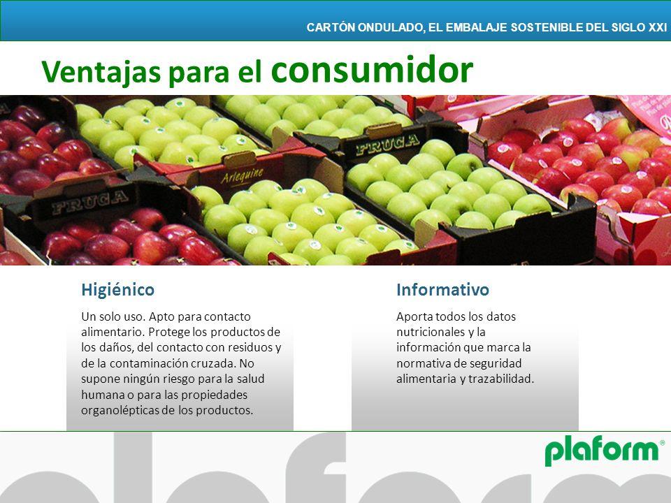Higiénico Un solo uso. Apto para contacto alimentario. Protege los productos de los daños, del contacto con residuos y de la contaminación cruzada. No