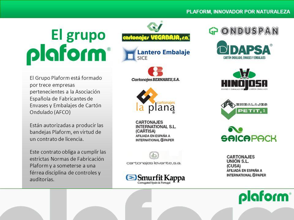 El grupo PLAFORM, INNOVADOR POR NATURALEZA El Grupo Plaform está formado por trece empresas pertenecientes a la Asociación Española de Fabricantes de