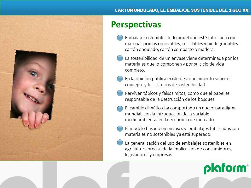 Embalaje sostenible: Todo aquel que esté fabricado con materias primas renovables, reciclables y biodegradables: cartón ondulado, cartón compacto o ma
