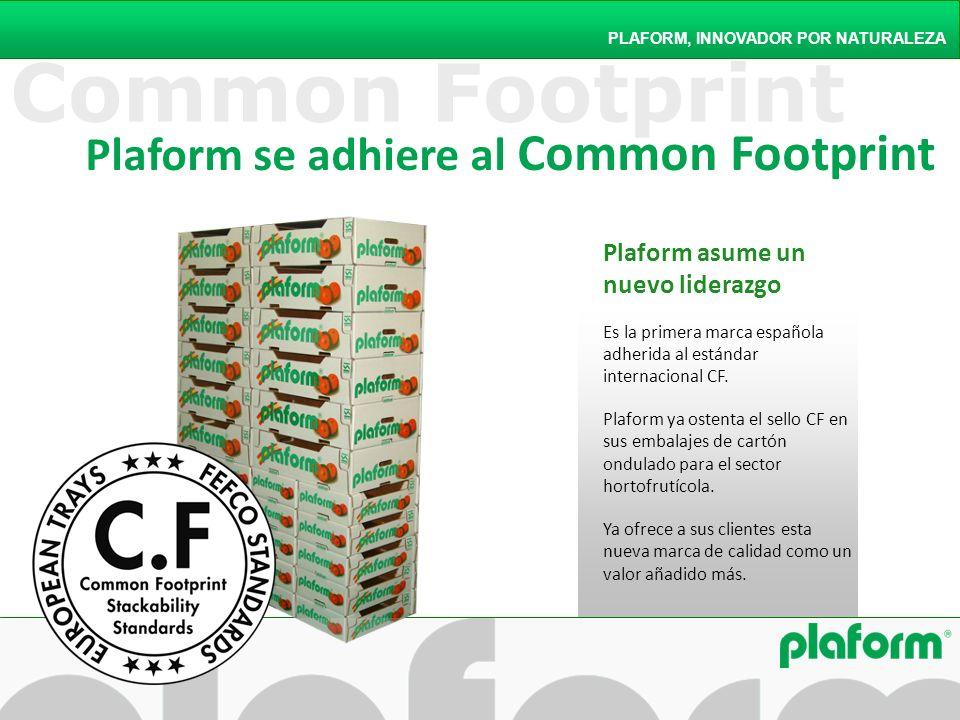 Common Footprint Plaform asume un nuevo liderazgo Es la primera marca española adherida al estándar internacional CF. Plaform ya ostenta el sello CF e