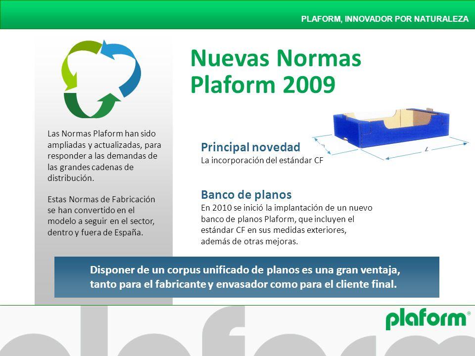 Nuevas Normas Plaform 2009 PLAFORM, INNOVADOR POR NATURALEZA Las Normas Plaform han sido ampliadas y actualizadas, para responder a las demandas de la