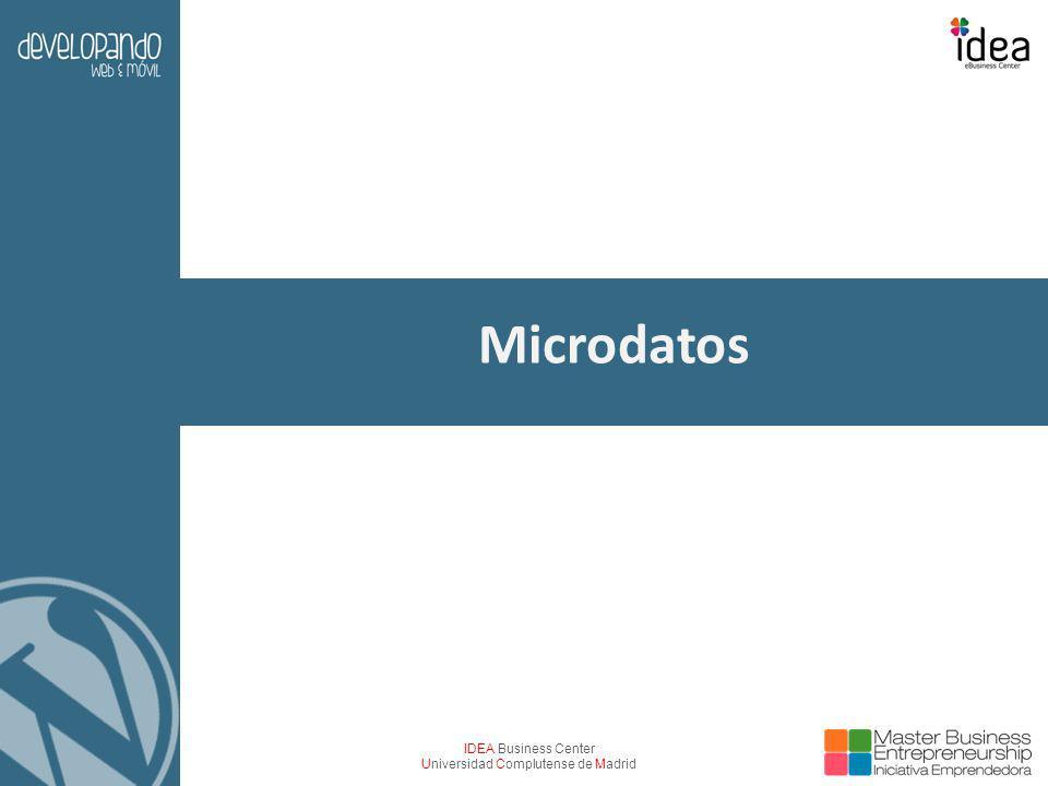 IDEA Business Center Universidad Complutense de Madrid Microdatos