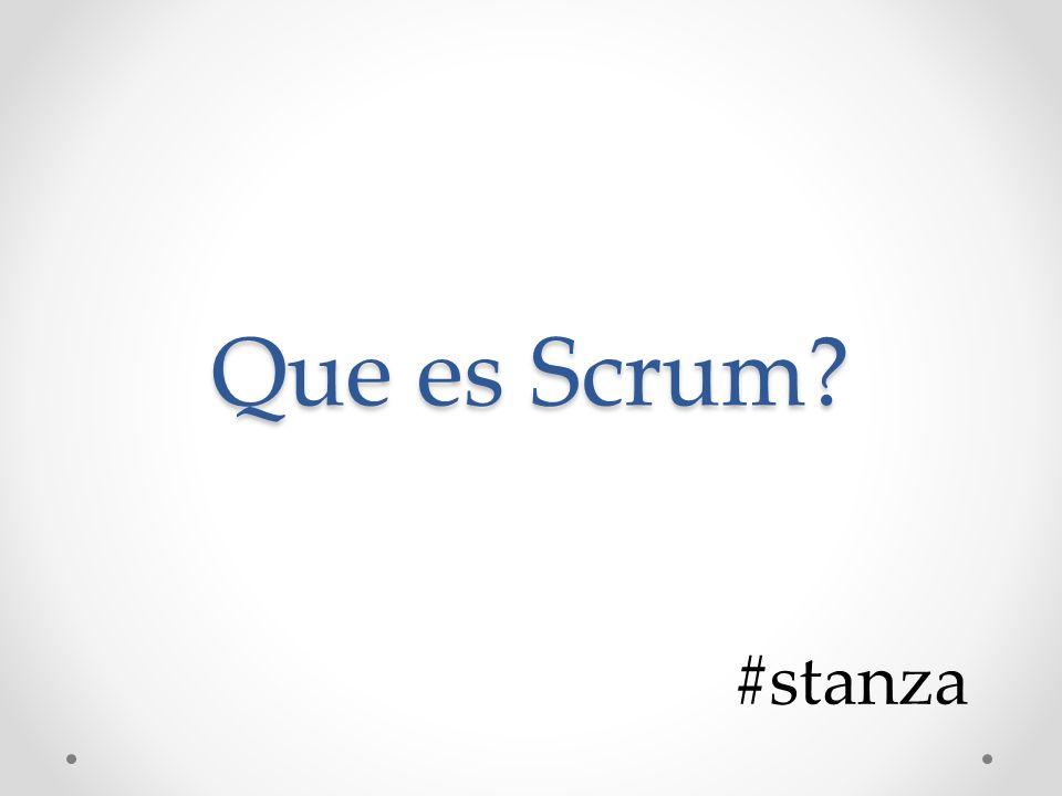 Que es Scrum #stanza