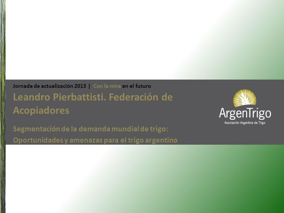 Leandro Pierbattisti. Federación de Acopiadores Segmentación de la demanda mundial de trigo: Oportunidades y amenazas para el trigo argentino Jornada