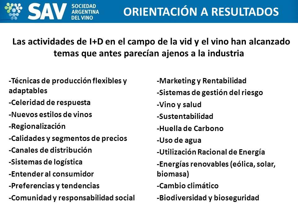-Técnicas de producción flexibles y adaptables -Celeridad de respuesta -Nuevos estilos de vinos -Regionalización -Calidades y segmentos de precios -Ca
