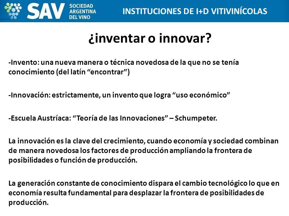¿inventar o innovar? -Invento: una nueva manera o técnica novedosa de la que no se tenía conocimiento (del latín encontrar) -Innovación: estrictamente