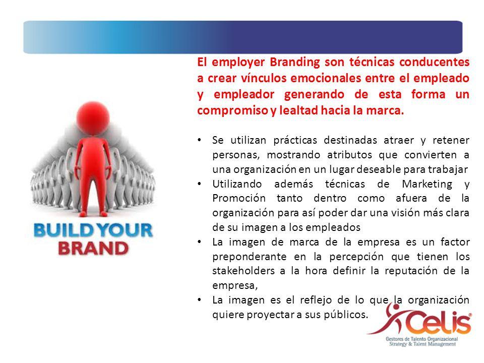 El employer Branding son técnicas conducentes a crear vínculos emocionales entre el empleado y empleador generando de esta forma un compromiso y lealt