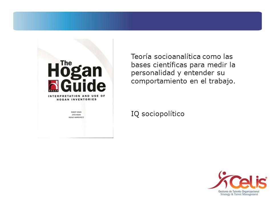 Teoría socioanalítica como las bases científicas para medir la personalidad y entender su comportamiento en el trabajo. IQ sociopolítico
