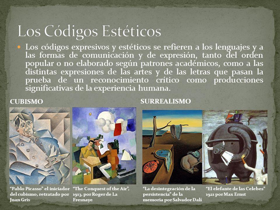 Los códigos expresivos y estéticos se refieren a los lenguajes y a las formas de comunicación y de expresión, tanto del orden popular o no elaborado s