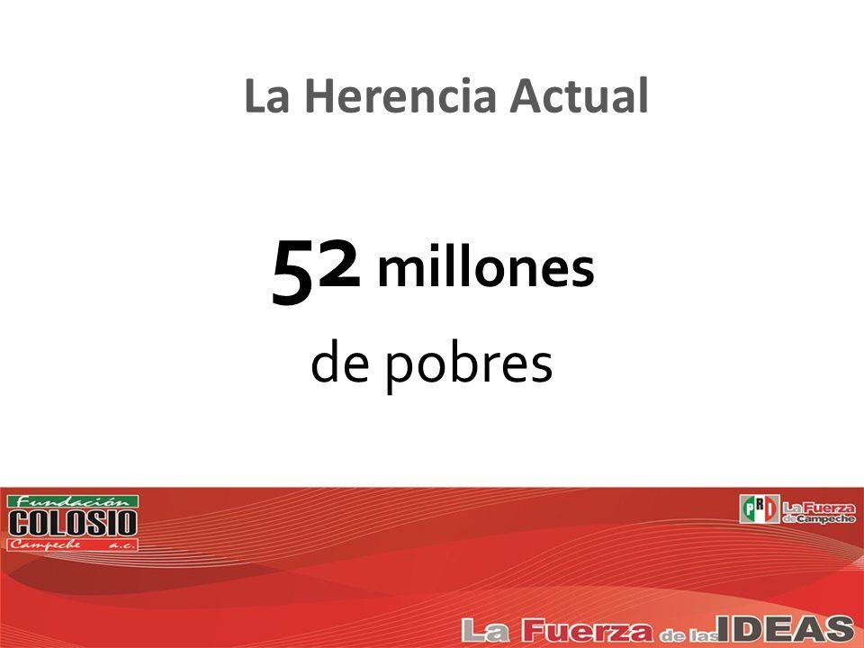 52 millones de pobres La Herencia Actual