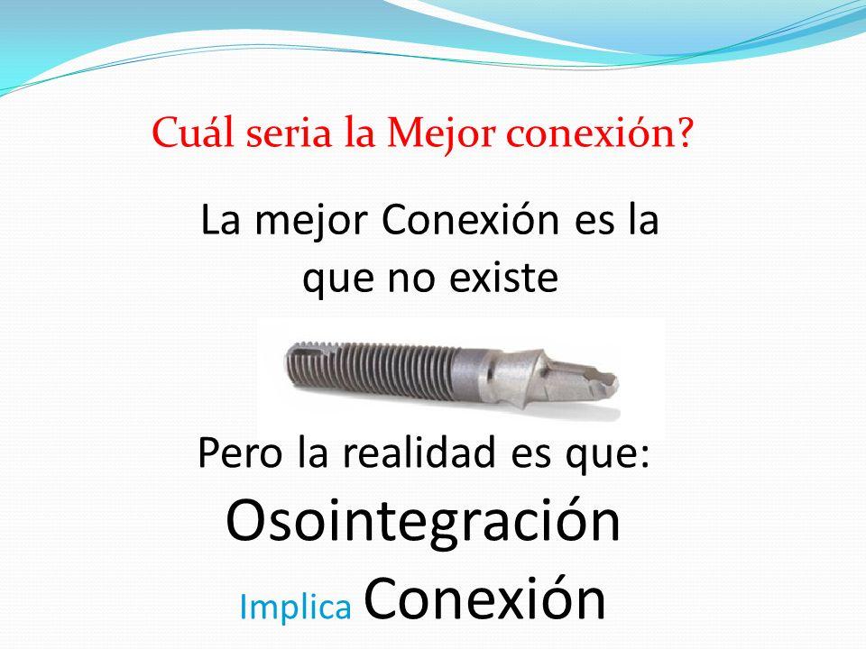 La mejor Conexión es la que no existe Pero la realidad es que: Osointegración Implica Conexión Cuál seria la Mejor conexión?