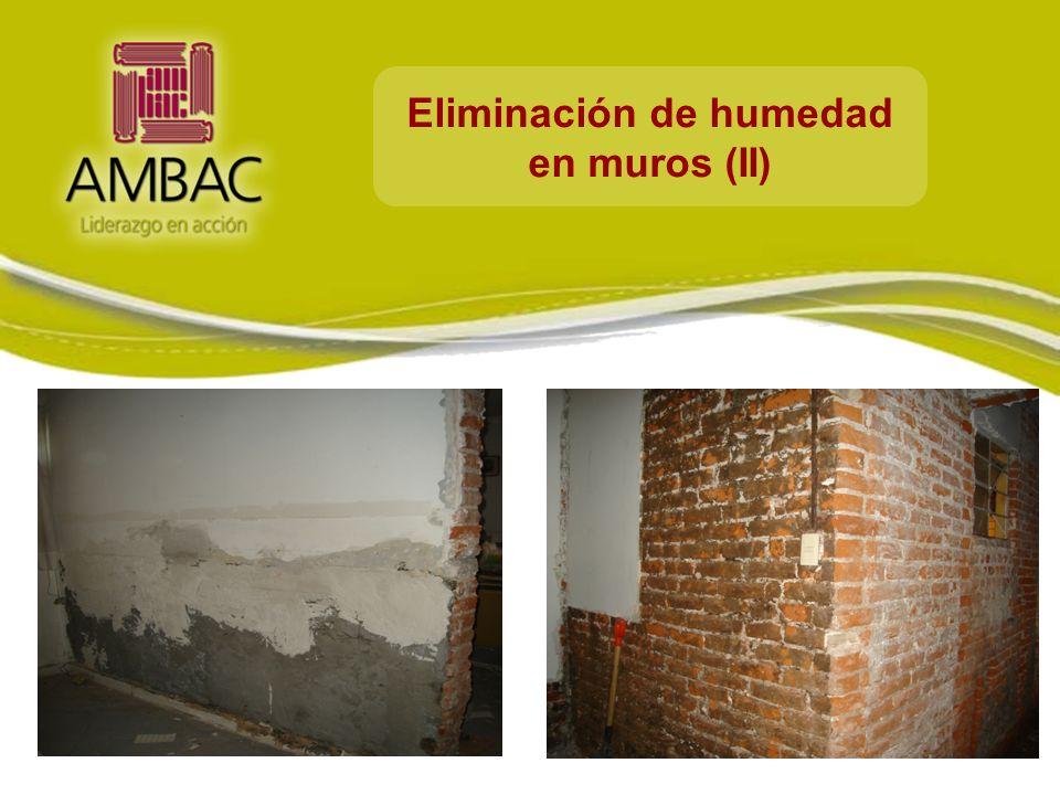 Eliminación de humedad en muros (II)