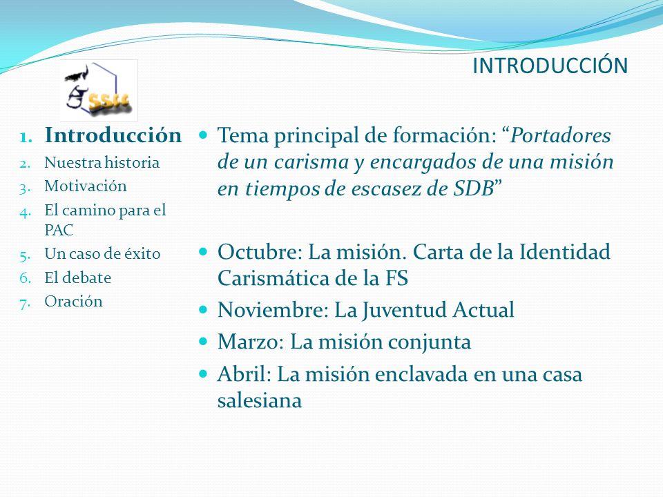INTRODUCCIÓN 1. Introducción 2. Nuestra historia 3.
