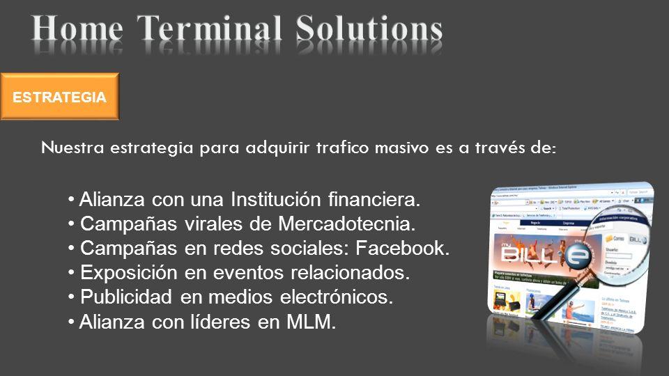 Alianza con una Institución financiera. Campañas virales de Mercadotecnia.