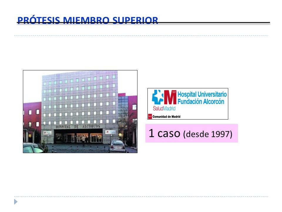 PRÓTESIS MIEMBRO SUPERIOR 1 caso (desde 1997)
