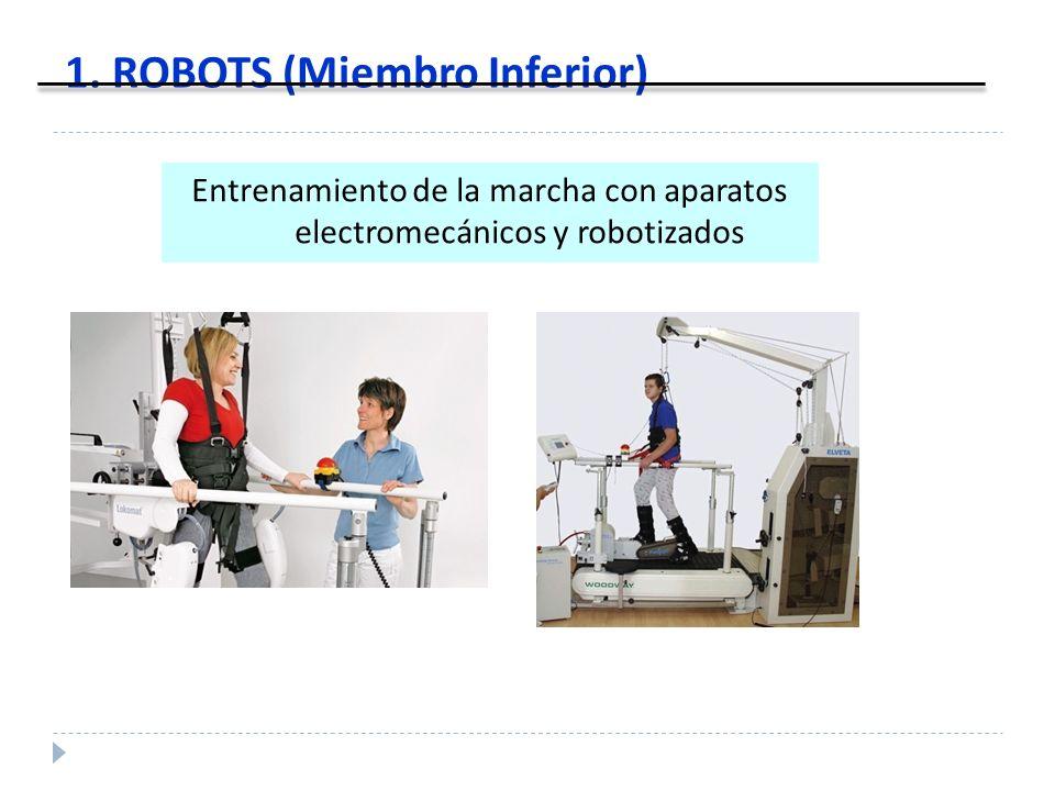 1. ROBOTS (Miembro Inferior) Entrenamiento de la marcha con aparatos electromecánicos y robotizados