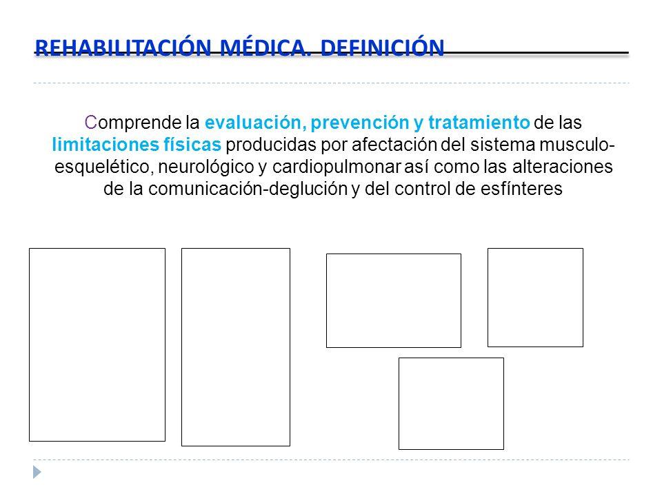 Comprende la evaluación, prevención y tratamiento de las limitaciones físicas producidas por afectación del sistema musculo- esquelético, neurológico