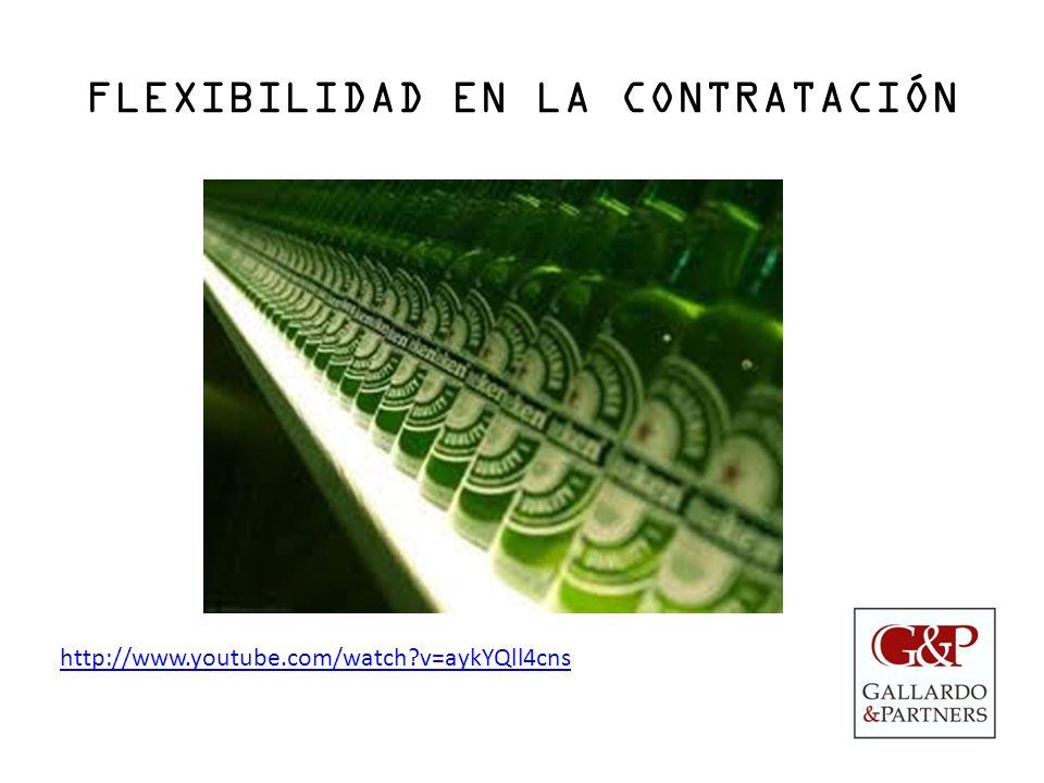 FLEXIBILIDAD EN LA CONTRATACIÓN http://www.youtube.com/watch?v=aykYQll4cns