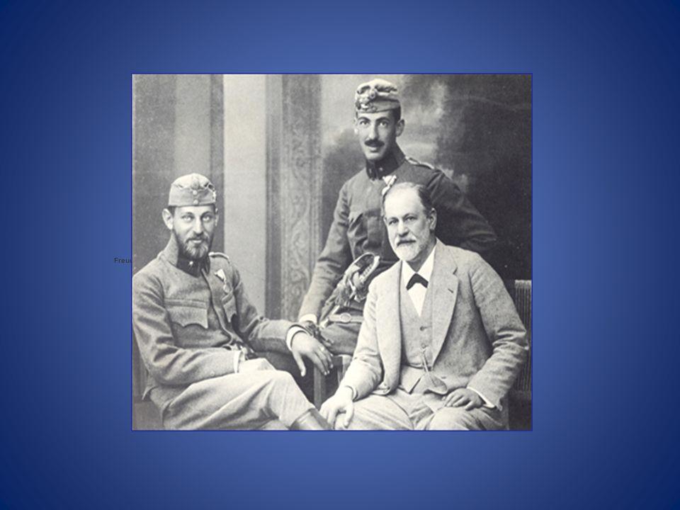Freud con sus hijos Ernest y Martin.
