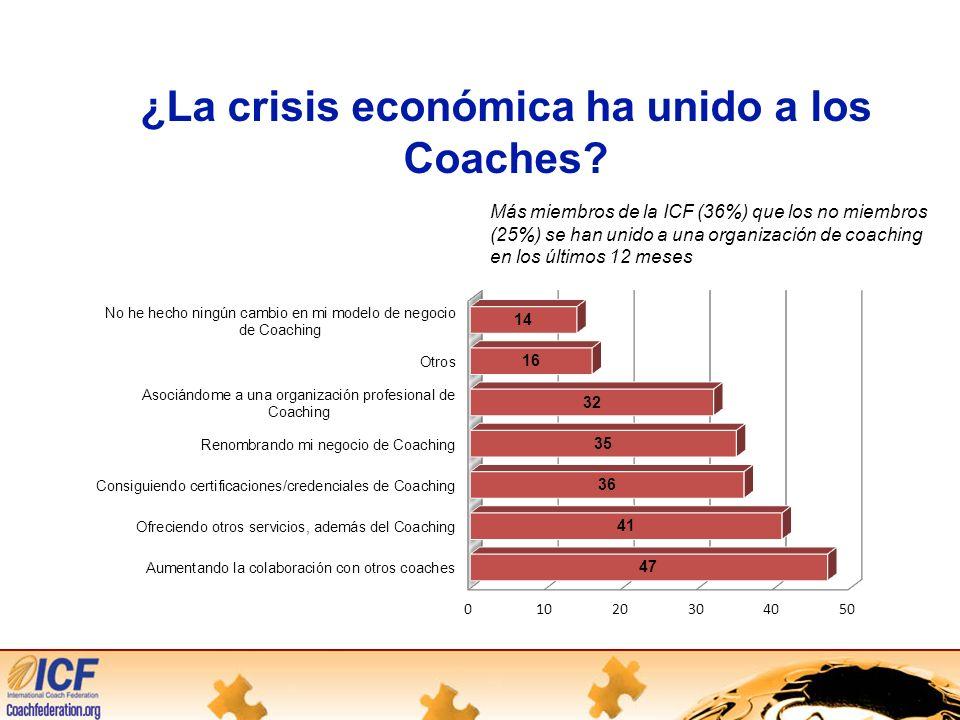 ¿La crisis económica ha unido a los Coaches.