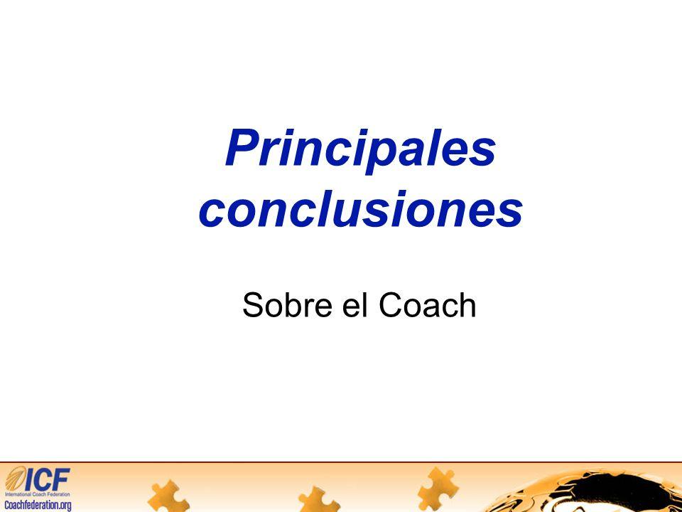 Principales conclusiones Sobre el Coach