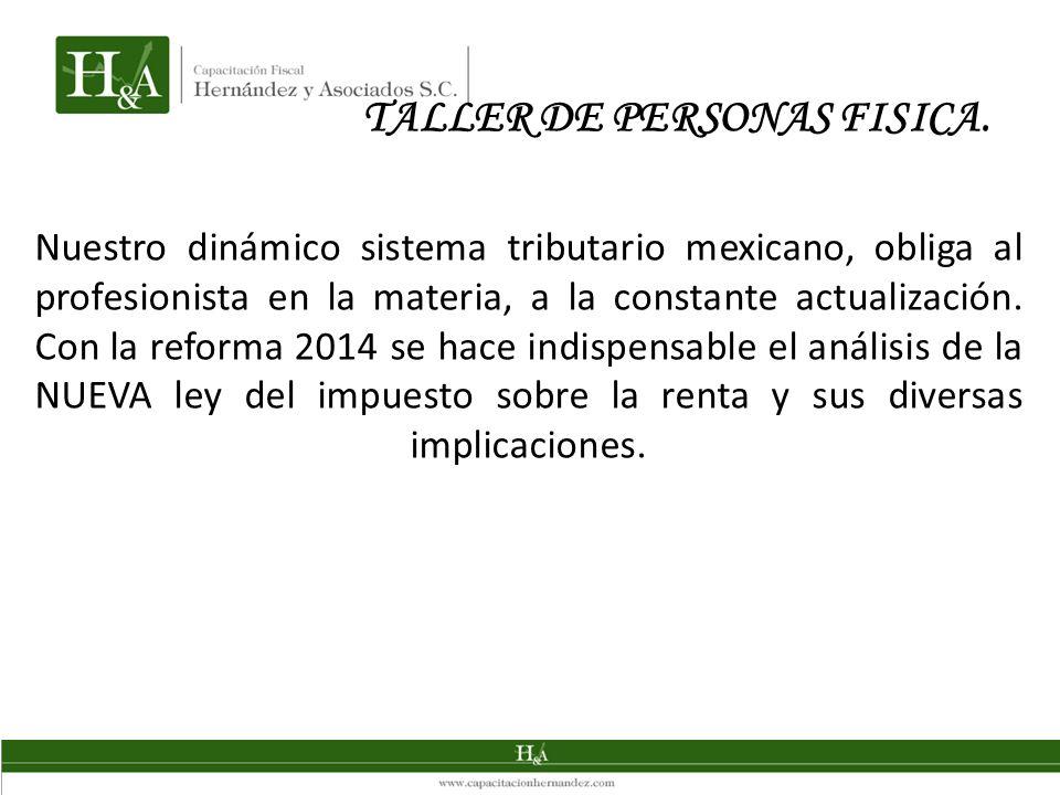 Nuestro dinámico sistema tributario mexicano, obliga al profesionista en la materia, a la constante actualización.