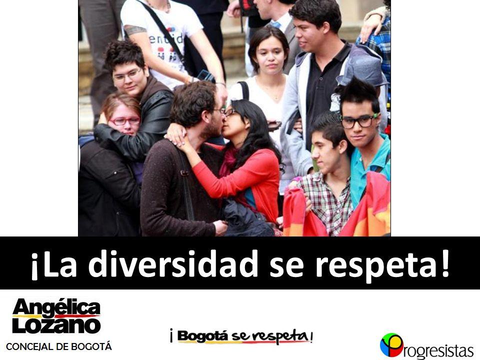 ¡La diversidad se respeta!