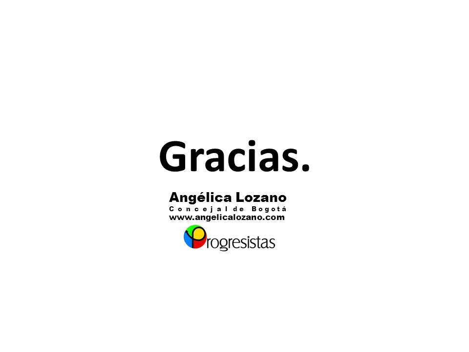 Gracias. Angélica Lozano C o n c e j a l d e B o g o t á www.angelicalozano.com