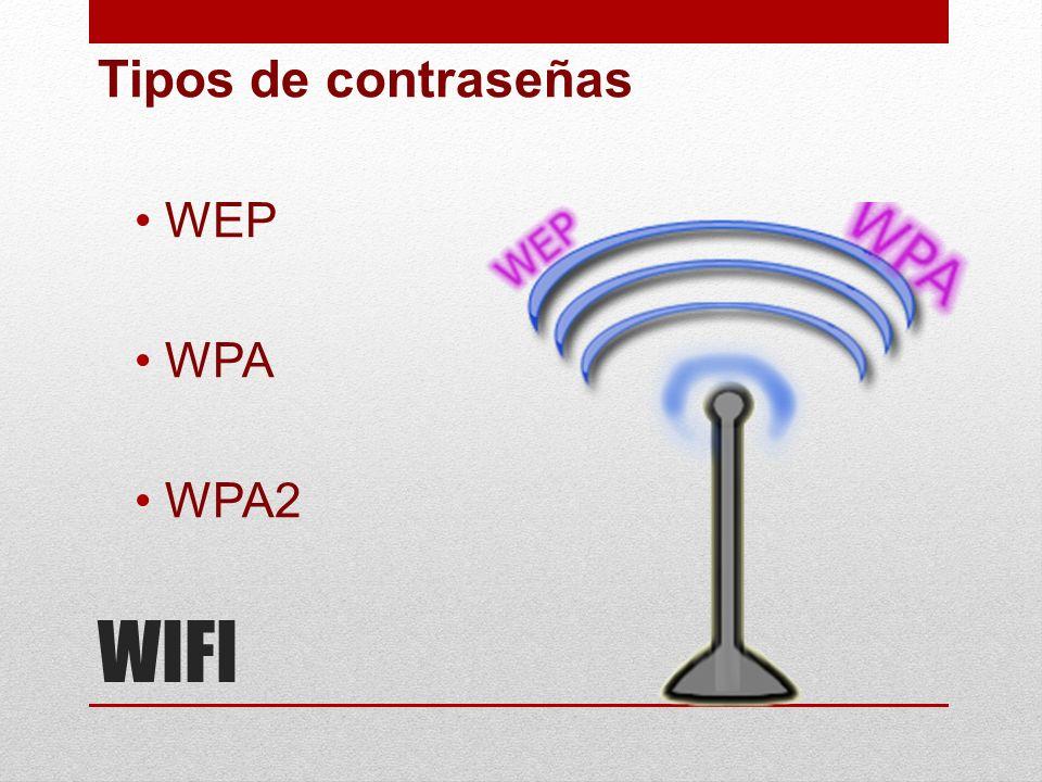 WIFI Tipos de contraseñas WEP WPA WPA2