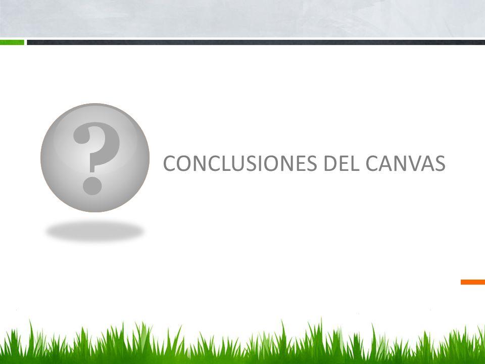? CONCLUSIONES DEL CANVAS