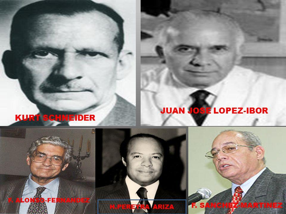 KURT SCHNEIDER JUAN JOSE LOPEZ-IBOR F. ALONSO-FERNANDEZ F. SANCHEZ-MARTINEZ H.PEREYRA ARIZA