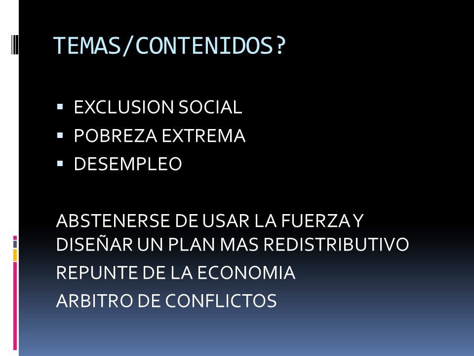 TEMAS/CONTENIDOS.