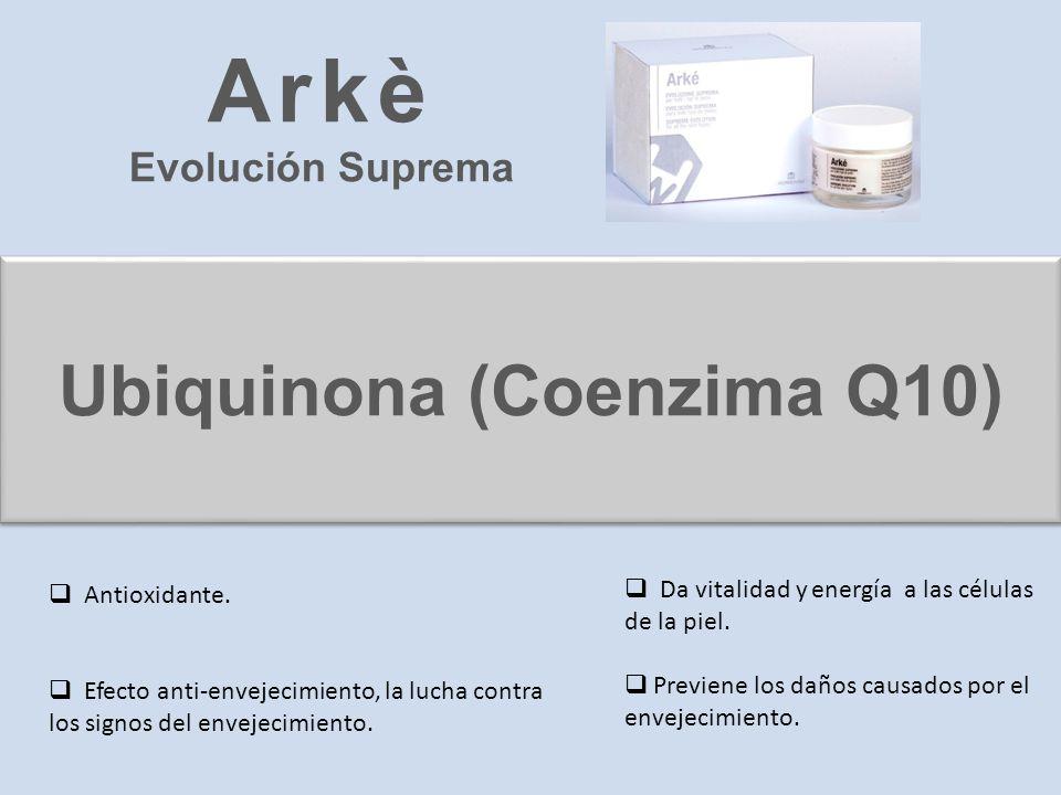 Ubiquinona (Coenzima Q10) Antioxidante. Efecto anti-envejecimiento, la lucha contra los signos del envejecimiento. Da vitalidad y energía a las célula