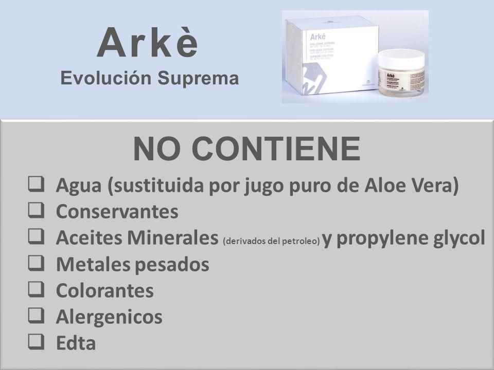 Agua (sustituida por jugo puro de Aloe Vera) Conservantes Aceites Minerales (derivados del petroleo) y propylene glycol Metales pesados Colorantes Ale