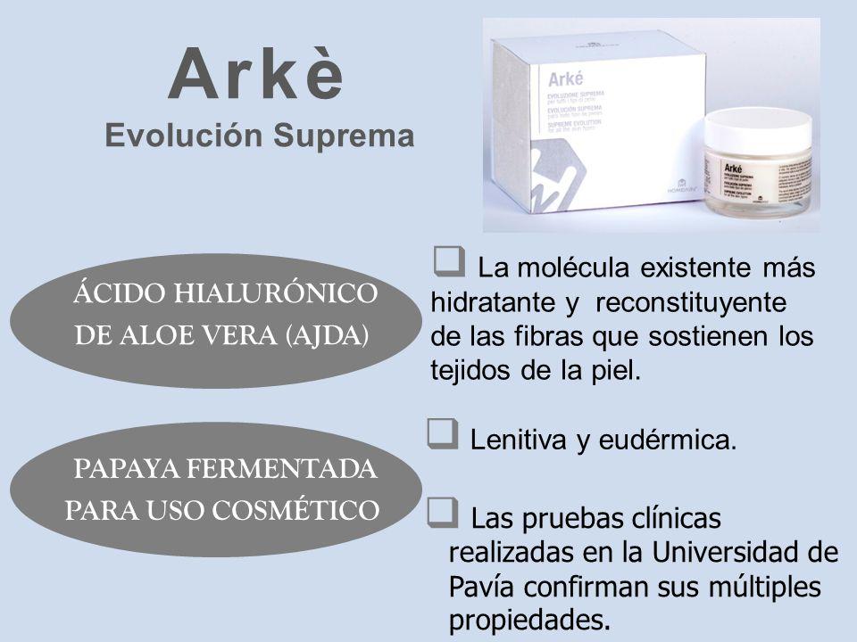 La molécula existente más hidratante y reconstituyente de las fibras que sostienen los tejidos de la piel. ÁCIDO HIALURÓNICO DE ALOE VERA (AJDA) Las p