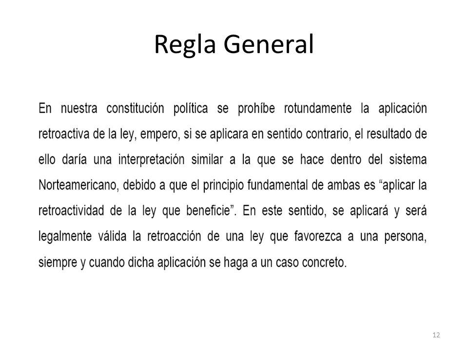 Regla General 12