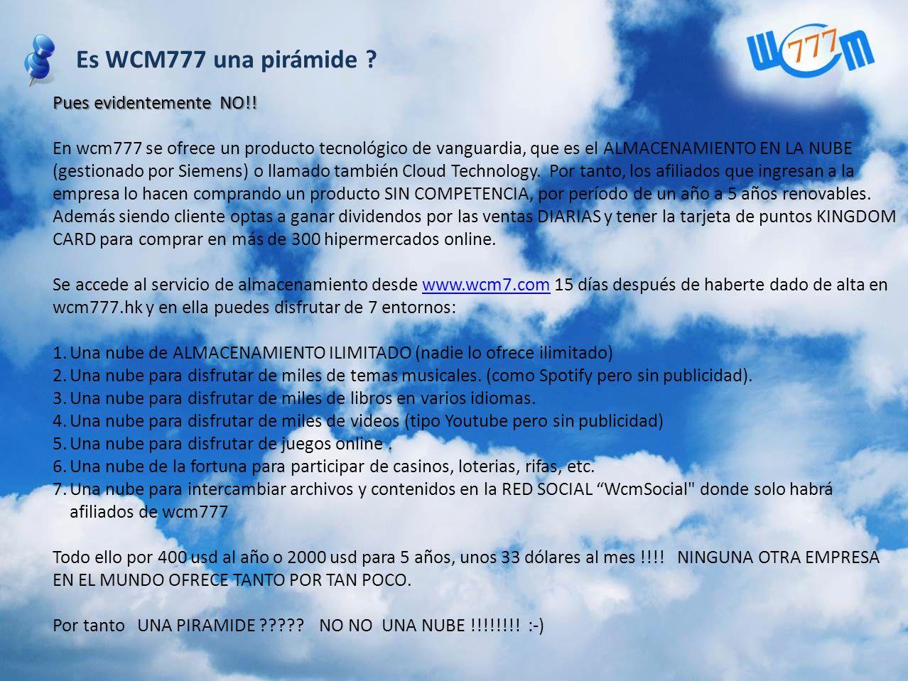 Es WCM777 una pirámide ?
