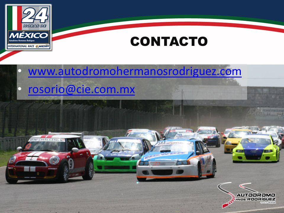 CONTACTO www.autodromohermanosrodriguez.com rosorio@cie.com.mx