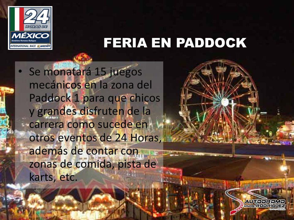 ZONA CAMPING Por primera vez en una carrera en México se contará con una zona especial dentro del Autódromo Hnos.
