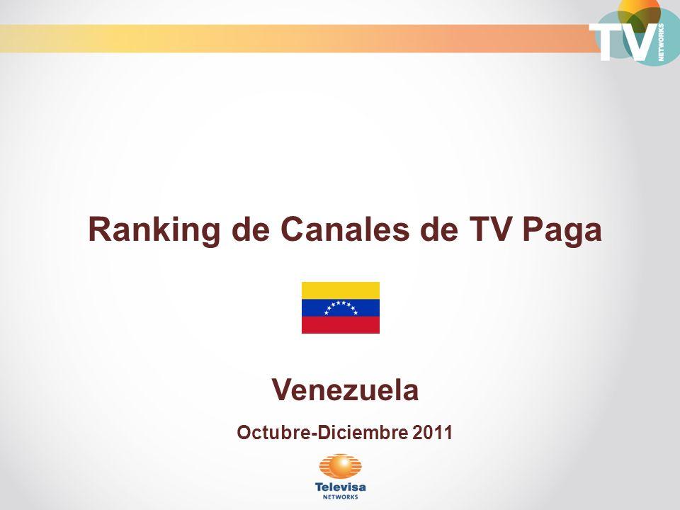 Ranking de Canales de TV Paga Venezuela Octubre-Diciembre 2011